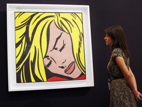 El artista Roy Lichtenstein era conocido por sus coloridas pinturas.