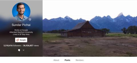 Sundar Pichai en Google+.