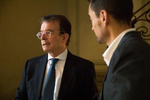 Antonio Catalán Díaz, fundador de NH y AC Hoteles (izq) y Manuel del Campo, CEO de Axel Springer España (dcha)