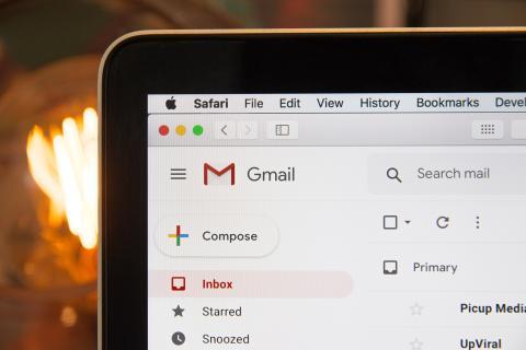 Bandeja de entrada de Gmail.