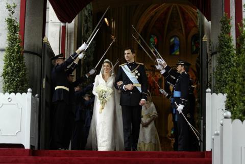 Boda del príncipe Felipe y Letizia Ortiz