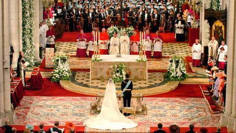 La boda real de 2004 en la catedral de la Almudena