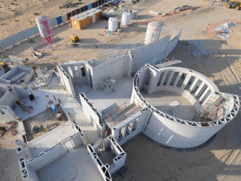 This building in Dubai is the largest 3D-printed structure in the world — and it took just 3 workers and a printer to build it