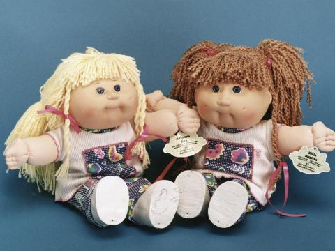 Muñecas de Cabbage Patch Kids.