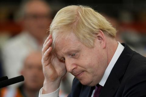 El candidato conservador y primer ministro británico en funciones, Boris Johnson