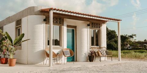 Casa impresa en 3D de la ONG New Story.