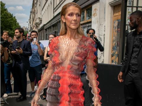 Celine Dion en Paris en 2019.