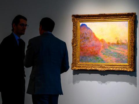 """El cuadro """"Meules"""" de Claude Monet."""