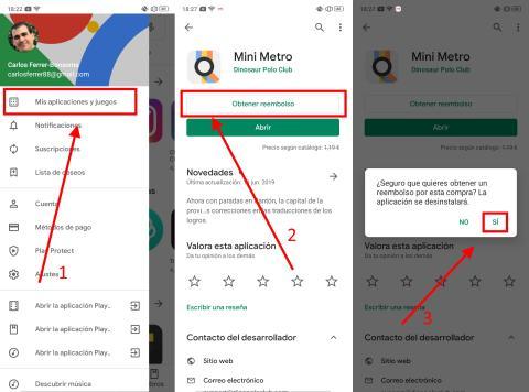 Cómo solicitar un reembolso en la Google Play Store