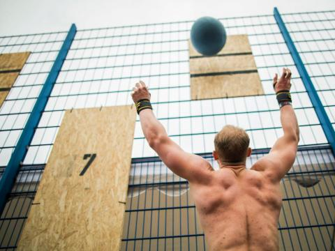 "CrossFit workouts aim to build ""functional fitness,"" or strength in the type of movements you'd perform in everyday life."