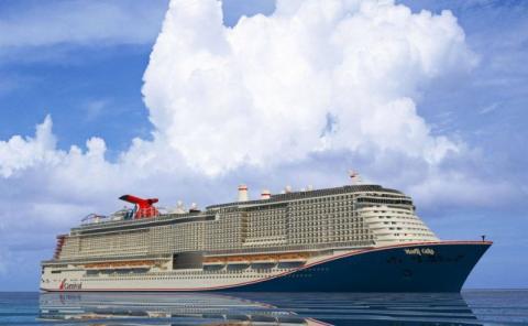 El Mardi Gras, de Carnival, será uno de los cruceros más grandes que llegarán en el 2020.