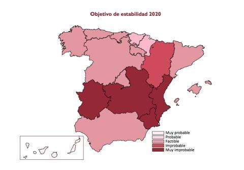Cumplimiento del objetivo de déficit en las autonomías en 2020, según la Airef