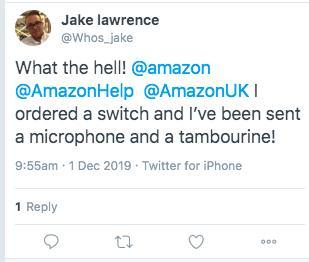 Customers are fuming saying they received Black Friday Amazon orders that contained condoms, toothbrushes, or even a tambourine instead of a Nintendo Switch