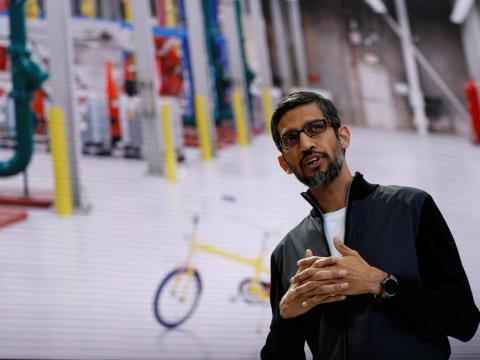 Pichai, nuevo CEO de Alphabet y Google.