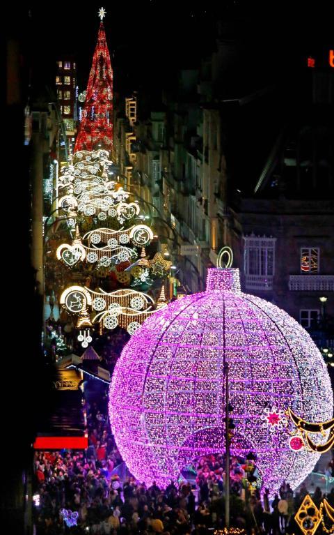 Decoración navideña de Ximénez en Vigo.