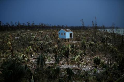 Una casa destruida tras el paso del huracán Dorian en Marsh Harbour, Gran Abaco, Bahamas, el 8 de septiembre.