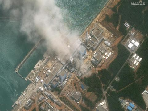An explosion at the Fukushima power plant on March 14, 2011.