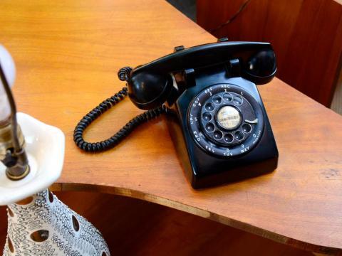 Teléfono viejo.