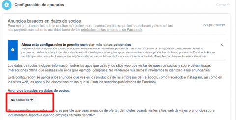 Facebook anuncios perfil