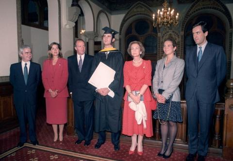 Felipe VI en su graduación de Georgetown.