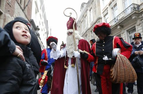 Festividad navideña en Bruselas.