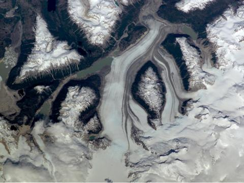 Glaciar del Río de la Colonia en el sur de Chile. Diciembre de 2000.