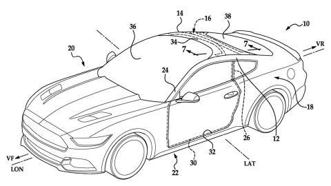 Ford patenta un parabrisas que forma parte del techo