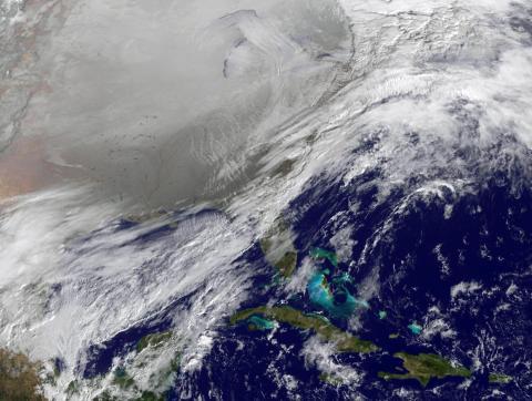 Un vórtice polar golpea el sur de EE. UU. en noviembre de 2014.