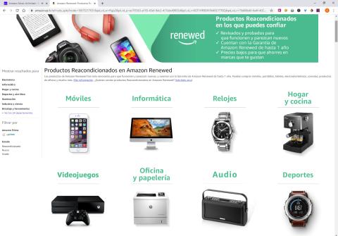 Categorías de Amazon Renewed