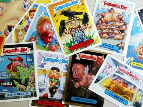 Cromos coleccionables de Garbage Pail Kids.