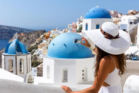 Santorini is known for its Instagrammability. And crowds.