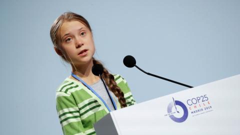 Greta Thunberg interviene en la Cumbre del Clima de Madrid