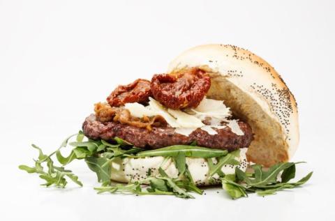 Hamburguesa del Burgerheim.