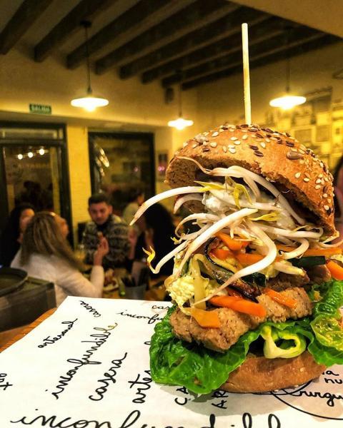 Hamburguesa vegana de La Nueva Burguesa.