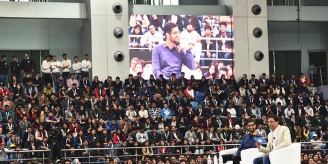 Sundar Pichai en la Universidad Delhi, en India.