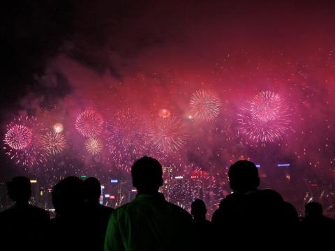 Celebraciones en Hong Kong.