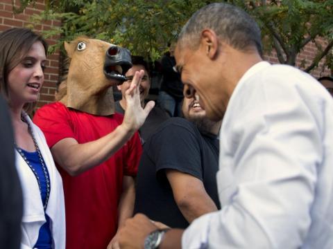 Las máscaras de cabeza de caballo tenían mucha popularidad.