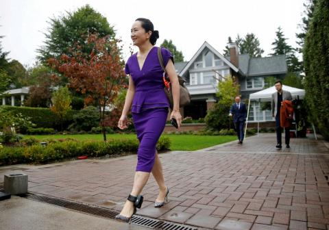 Huawei Technologies Chief Financial Officer Meng Wanzhou leaves her home to appear at a hearing at the Supreme Court of British Columbia in Vancouver, Canada on September 23. Wanzhou was arrested in December 2018 in Vancouver on