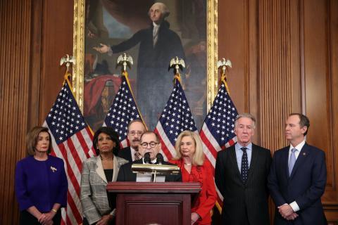 El comité que ha anunciado los cargos contra Trump.