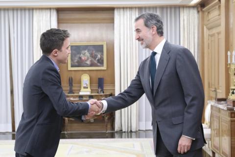 Íñigo Errejón, de Más País, con el rey.