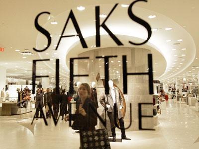 Inside a handbag from Saks Fifth Avenue.