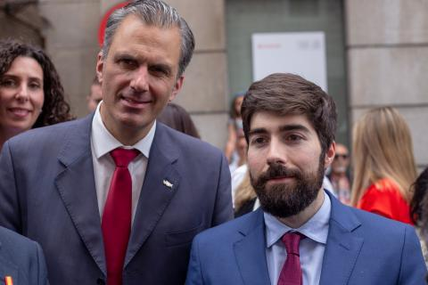 Javier Ortega Smith (izq) y Manuel Mariscal (der).