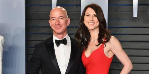 Jeff Bezos y su exmujer MacKenzie Bezos.