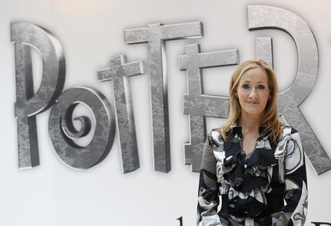 JK Rowling, la escritora de la saga de Harry Potter, en una fotografía de archivo.
