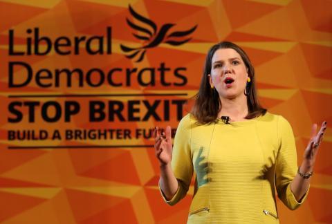Jo Swinson, líder del Partido Liberal Demócrata de Reino Unido