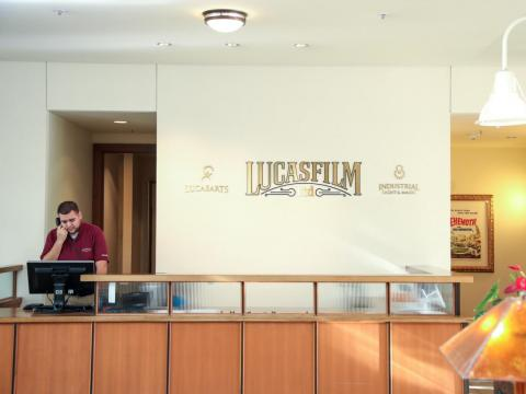 Just like at Skywalker Ranch to the north, access to the Presidio's Lucasfilm headquarters is limited — the public can only venture into the lobby for a glimpse at memorabilia from the studio's beloved franchise.