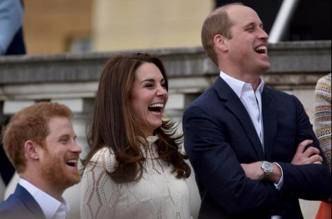El Príncipe Harry, Kate y el Príncipe William.