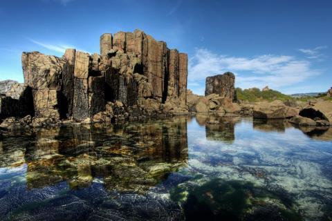 Formación de roca natural en Kiama, Nueva Gales del Sur, Australia.