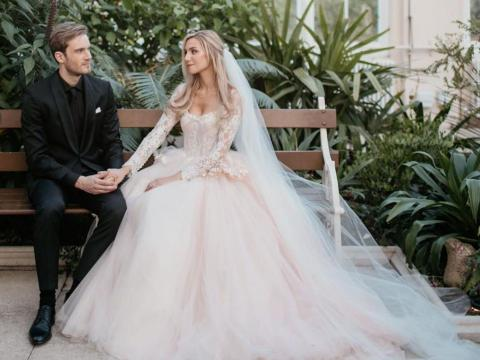 Kjellberg got married on August 19 to Marzia, his girlfriend of nearly eight years. The two got married in London, and some of Kjellberg's YouTube pals were in attendance at the wedding.