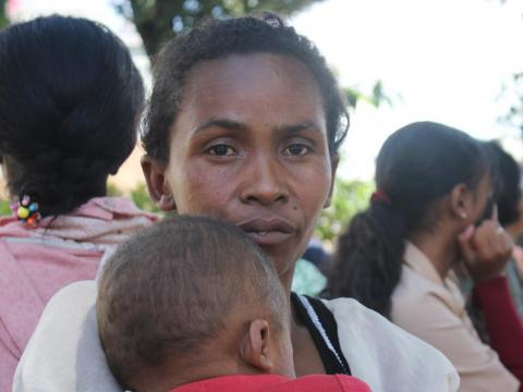 Lalatiana Ravonjisoas' five-month-old son Isaia died as a result of the measles in Madagascar.